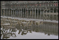 You know that high water has to be bad for cafe business in Piazza San Marco