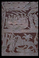 Picture stone.  Bunge Museum.  Northern Gotland.  Sweden